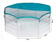 Wire Pet Playpen with waterproof polyester cloth 8 panels size 63x 60cm 06-0114 Dog Playpen: Pet Playpen Products, Dog Goods waterproof polyester cloth