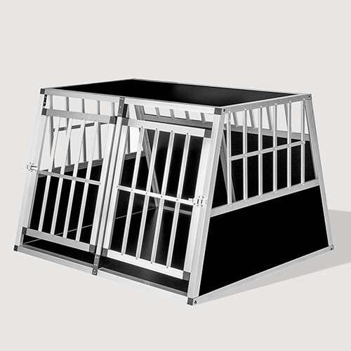 Aluminum Large Double Door Dog cage With Separate board 65a 104 06-0776 Aluminum Large Double Door Dog cage With Separate board 65a 104 06-0776