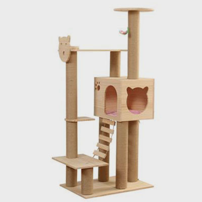 Pet, Cat Scratching Post New Designed Ladder Cat Scratching Post House