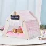 Indoor Portable Lace Tent: Pink Lace Teepee Small Animal Dog House Tent 06-0959 Indoor Portable Lace Tent: Pink Lace Teepee Small Animal Dog House Tent 06-0959