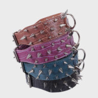 Multicolor Optional Popular Wide Studded PU Leather Spiked Dog Chain Collar Pet collars leashes bandana: pet supplies oem custom collar Multicolor Optional Wide