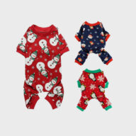 Pet Clothes Christmas Day Outfit Four-legged Christmas Pajamas Pets Pajama Jumpsuit Dog Clothes: Shirts, Sweaters & Jackets Apparel