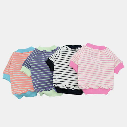 Striped Cotton Parent-child Outfit Pet Clothing Dog Clothes Pets For Spring and Autumn 06-0497 Dog Clothes: Shirts, Sweaters & Jackets Apparel 06-0497-1