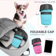 Portable water bottle pet outdoor drinking water with cup feeder-11-501